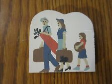 Family Vacation Accessory Cat'S Meow Village Wood Golfing Dad Mom Child
