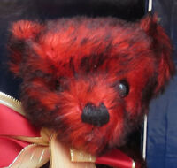 MERRYTHOUGHT England Teddy Bear SUNBERST Red Tipped Mohair In Trunk NEW MIB NRFB