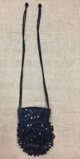 RARE Vintage Magie Noire Lancome Black Beaded Tassel Evening Bag