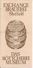 Whitbread Exchange Brauerei (Sheffield) flyer 1981- free pp(UK)