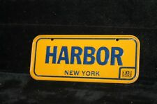 Vintage 1982 POST CEREAL BICYCLE LICENSE PLATE New York Harbor