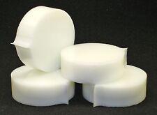 "1"" thick High Density Polyethylene HDPE, white 2-7/8""  round, 4 pieces."