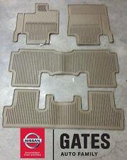 Nissan Quest OEM Rubber Floor Mats 2011 & Up 999E1-NX001 (Beige)