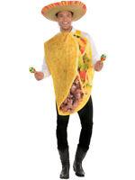 Mens Womens Taco Fancy Dress Costume Adult Mexican Fiesta Funny Food Tortilla