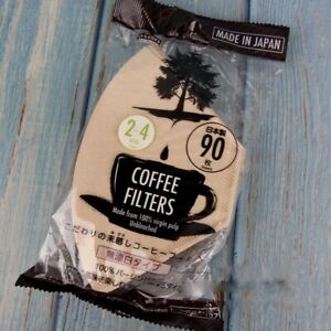 Daiso 2-4 Cup Natural Unbleached Coffee Filter Papers Made in Japan