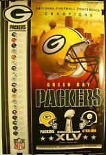 "Super Bowl XLV Green Bay Packers NFC Champions 24 x 36"" Poster"