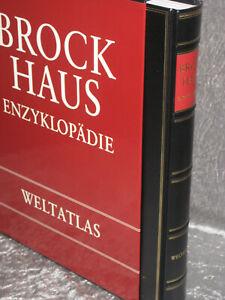 Brockhaus Enzyklopädie Weltatlas 2. Auflage, 1997 Leder TOP
