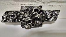 Silverado/Avalanche/Tahoe Custom Skull Emblem (2000-13)  - Brushed Silver