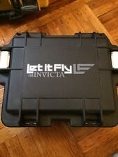 Invicta BLACK LET IT FLY 3 Slot Black Plastic Watch Box Collectors Divers Case