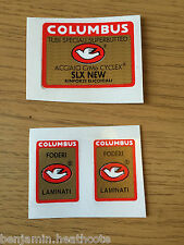 NOS 'Columbus SLX New' Seat Tube And Forks Decal Set, Original Not Reproduction