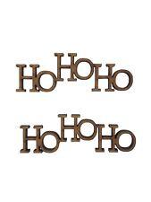 6x HoHoHo Words Christmas 5cm Wood Craft Embelishments Laser Cut Shape MDF