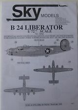 Skymodels 1/72 72054  Consolidated B-24 Liberator decal set
