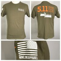 NINE LINE APPAREL 5.11 TACTICAL BT KARL MALONE ARMY GREEN T SHIRT MENS SIZE M