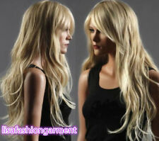 Long Western Womens Wig Like Real Natural Hair Wave Curly Blonde Wig Wigs