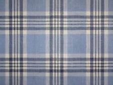 1.625 Yards Laura Ashley HIGH STREET LA1204 CHAMBRAY BLUE Plaid Drapery Fabric