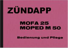Zündapp Mofa 25 Moped M 50 Bedienungsanleitung Betriebsanleitung Handbuch 434