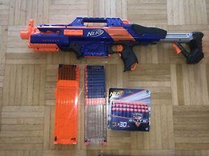 NERF Elite CS-18 Rapidstrike mit 2x Magazin + 17 Gebrauchte + 30 Neue Darts