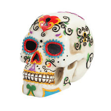 White Skull Day of the Dead D.O.D. Dia De Muertos Figurine Statue Halloween