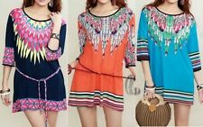 3/4 Sleeve Hand-wash Only Floral Regular Tops & Blouses for Women