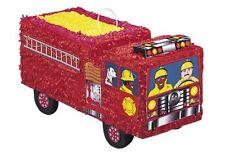 Fire Truck Pinata Party Game Birthday Kids Decor Children Supplies Hit Childrens