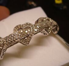 "Diamond Bangle Bracelet  7.50""  146 diamonds  1.20tcw  MSRP$1879"