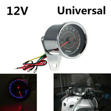 Portable 12V 13K RPM Shift Meter Motorcycle LED Backlight Tachometer Speedometer
