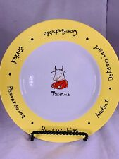 "Taurus Dessert/Salad Plate 8"" - Pottery Barn ""What's Your Sign?"" - Yellow"