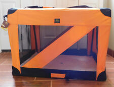 Pet Life 360 Degree Vista View Folding Zippered Carrier Crate XLarge 24 x 35 x24