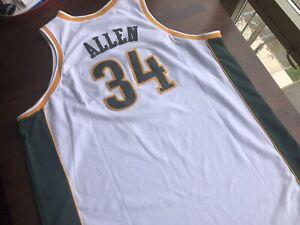 100% Authentic Reebok RAY ALLEN SEATTLE SONICS JERSEY #34 GREEN Sz 56