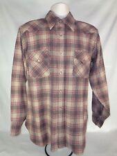 Pendleton Men's Shirt Wool High Grade Western Wear Pearl Snap 70's Vintage L
