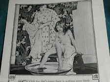 1918 IVORY SOAP advertisement, Girl  & Mom at foot-bath, Art Nouveau bathroom