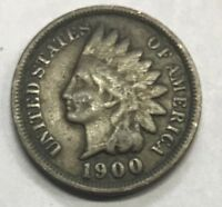 1900  INDIAN HEAD CENT  ****  NICE CIRCULATED COIN - L@@K AT PICTURES!!!!!  #467