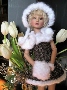"FITS Tonner Ellowyne Wilde Delilah Noir hand knit OUTFIT ONLY for 16"" doll NEW"