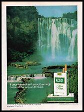 1971 Kool Mild Menthol Cigarettes Filter Kings Waterfall 1970s Vintage Print Ad