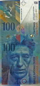 100 CHF Schweizerische Franken Swiss Francs 2003 uncirculated UNC Sammler
