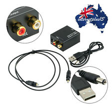 3.5MM Digital Optical Coax Coaxial Toslink to Analog Audio Converter Adapter AQ