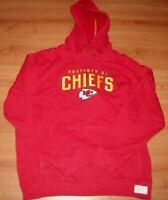 Kansas City Chiefs Hoodie Large Red Property Of Embroidered Logos Reebok NFL