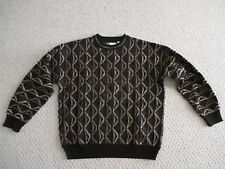 Bachrach Tundra style Sweater Size L Black Brown Mens