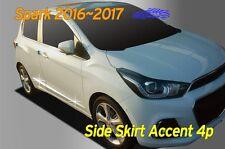 Chrome Side Skirt Accent Door Garnish Molding for Chevy Holden Spark 2016 ~ 2017