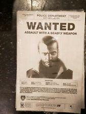 Rockstar Games Grand Theft Auto Iv Nikko Bellic Wanted Poster (Very Rare)