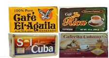 Cuban Coffee ground 4 packs espress(la rica,sol de cuba,cafecito cubano,aguila)