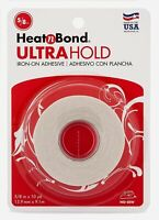 Iron On Adhesive Heat N Bond Hem No Sew Hemming Tape For Light Fabric 5/8''x10yd