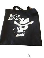Oingo Boingo Bag- Canvas Black Bag With Screen Print, Smoking Skull