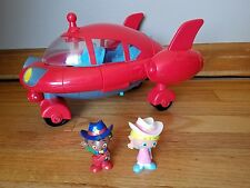 Disney Little Einsteins Pat Pat Red Rocket Ship & 2 Figures Lights Sounds WORKS