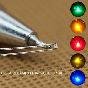 20pcs Pre-soldered Micro Litz Wired Leads SMD 0402 LED Light Different Colors