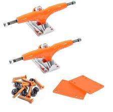 """Gullwing 9"""" inch Orange Skateboard Truck + Cal 7 1.25"""" Hardware Riser Pad"""