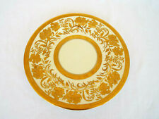 Rare Cabinet Plate Lavishly Decorated in Rich Gold Aynsley England Raised Design