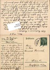 592180,Postkarte Stempel Grein nach Wien Rudolfsheim Fünfhaus 1938