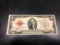 1928-C U.S $ 2 TWO DOLLAR BILL BANK NOTE! Early bill! #765