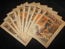 The Modern Boy (1938) inc Biggles Rescue Flight - W E Johns 10x Complete Serial